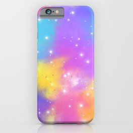 Colorful Design with Stars Ver.7 iPhone Case