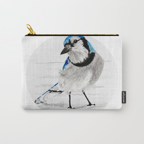 Blue Jay (Cyanocitta cristata) Carry-All Pouch