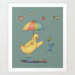 It's raining cats and dogs Art Print