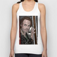 rick grimes Tank Tops featuring Rick Grimes  Walking Dead by Kenneth Shinabery