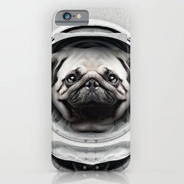 Puggly Pawstrong Astro Dog iPhone Case