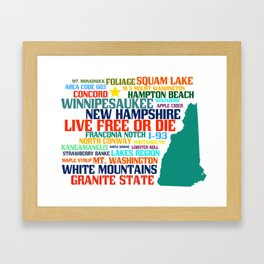 New Hampshire Native Framed Art Print