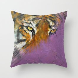 Shadow Tiger Throw Pillow