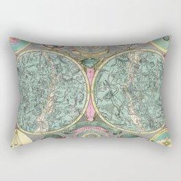 Vintage Astronomy Chart - Star Chart - Circa 1772 Rectangular Pillow