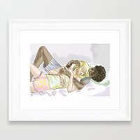 les mis Framed Art Prints featuring Sleeping pRouvaire Les Mis by Pruoviare