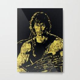John Rambo - The Legend Metal Print