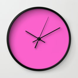 Heart of the Garden ~ Candy Pink Wall Clock