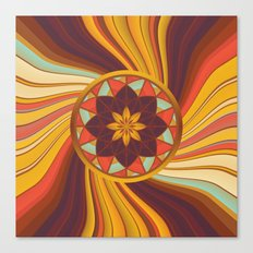 Floral vortex Canvas Print