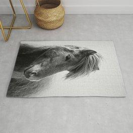 Horses - Black & White 6 Rug