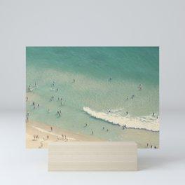 Beach Love II aerial beach photography by Ingrid Beddoes Mini Art Print