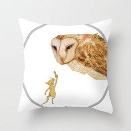 Brave Little Warrior Throw Pillow