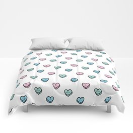 Mean Candy Hearts Comforters