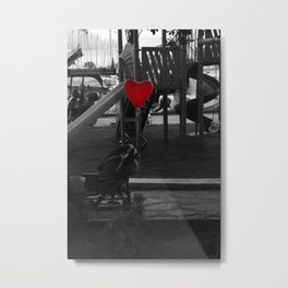 hearted balloon Metal Print