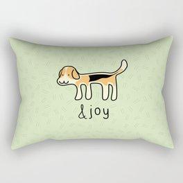 Cute Beagle Dog &joy Doodle Rectangular Pillow