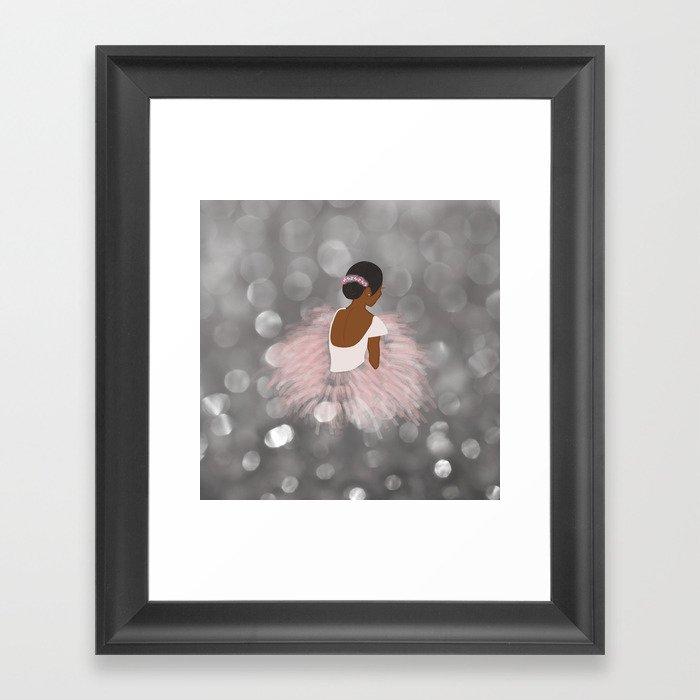 African American Ballerina Dancer Gerahmter Kunstdruck