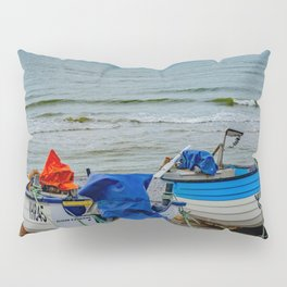 Traditional crab fishing boats on Sheringham beach Pillow Sham