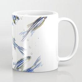 Fish art Danio zebra fish, gray-blue aquatic beach home decor Coffee Mug