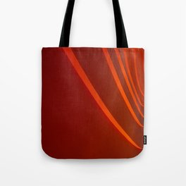 White and Red with lines Tote Bag