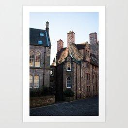 Old streets of Edinburgh Art Print