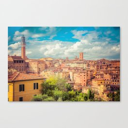 A View of Siena Italy Canvas Print
