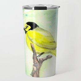 Hooded warbler in watercolor Travel Mug