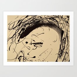 Punk Cartoon Girl Art Print