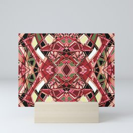 Fragmented Geometric Abstract Design Mini Art Print