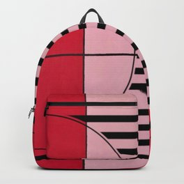August - mirror line graphic Backpack