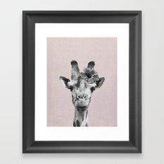 Portrait of Giraffe Framed Art Print
