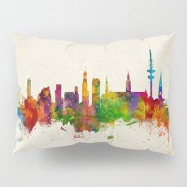 Hamburg Germany Skyline Pillow Sham