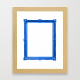 Blue Antique Frame Framed Art Print