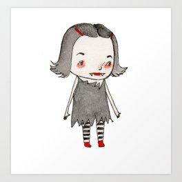 Vera's Vampire Costume Art Print