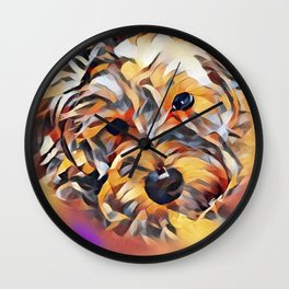Penny the Yorkipoo Wall Clock