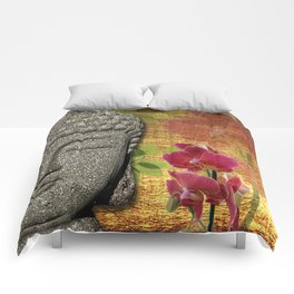 Calm & Relaxing Buddha & Orchids Comforters