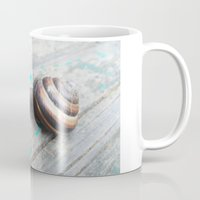 snail Mugs featuring Snail by Nita Bond