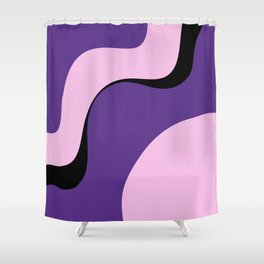 violet ice Shower Curtain
