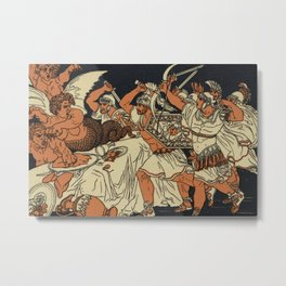 The Harpies Mythology Scene Metal Print