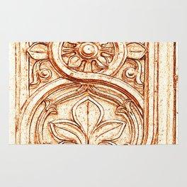 carved stonework Rug