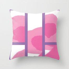 Expressive Windows of Purple Throw Pillow