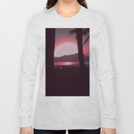 Cairns Sunrise in Red Long Sleeve T-shirt