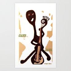 International Jazz Contrabassist Art Print