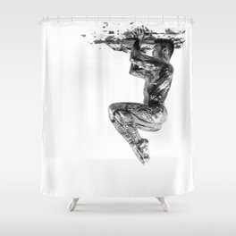 Hold the Ceiling Shower Curtain