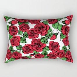 Red roses pattern Rectangular Pillow