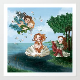 Boticcelli inspired by Monigotadas Art Print