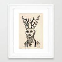 jackalope Framed Art Prints featuring Jackalope by Jon MacNair