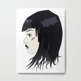 Whatever - goth girl Metal Print