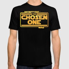 He Was The Chosen One Mens Fitted Tee MEDIUM Black