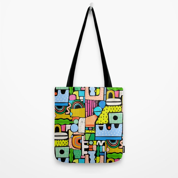 Color Block Collage Tote Bag