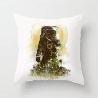 sunflower Throw Pillows featuring Sunflower Field by dan elijah g. fajardo