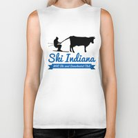 indiana Biker Tanks featuring Ski Indiana  by Westfield ski and snowboard club
